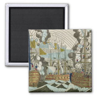 Bombardment and Siege of Algiers, 3rd July 1830 2 Inch Square Magnet