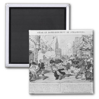 Bombardment and siege of Strasbourg 2 Inch Square Magnet