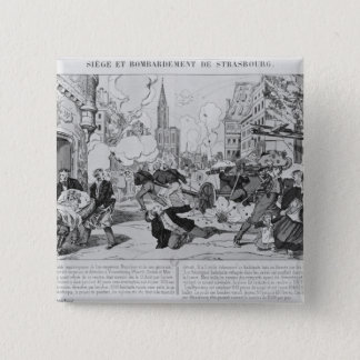 Bombardment and siege of Strasbourg Pinback Button