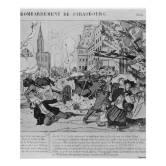 Bombardment and siege of Strasbourg Poster