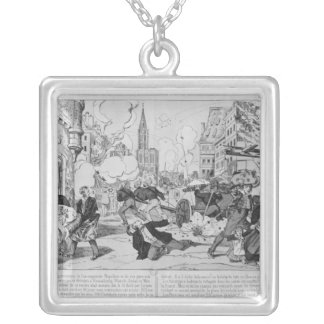 Bombardment and siege of Strasbourg Square Pendant Necklace