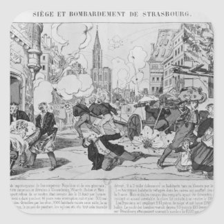 Bombardment and siege of Strasbourg Square Sticker