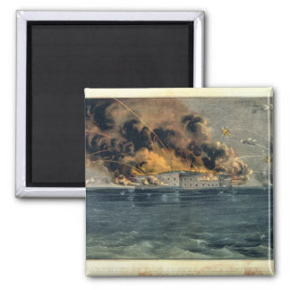 Bombardment of Fort Sumter 2 Inch Square Magnet