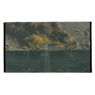 Bombardment of Fort Sumter by Currier Ives iPad Folio Cover
