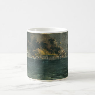Bombardment of Fort Sumter by Currier Ives Coffee Mugs