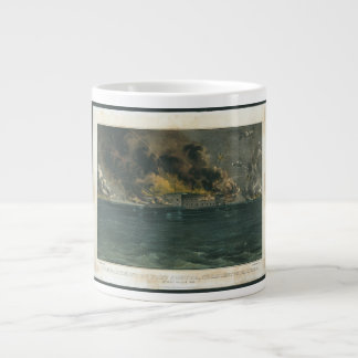 Bombardment of Fort Sumter by Currier Ives Jumbo Mug