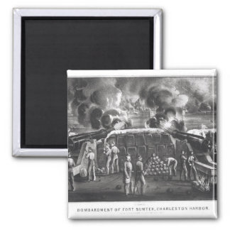 Bombardment of Fort Sumter, Charleston Harbour 2 Inch Square Magnet