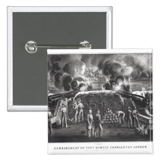 Bombardment of Fort Sumter, Charleston Harbour 2 Inch Square Button