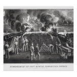 Bombardment of Fort Sumter, Charleston Harbour Poster