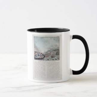 Bombardment of Genoa, 1684, engraved by Jean Bapti Mug