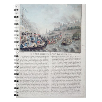 Bombardment of Genoa, 1684, engraved by Jean Bapti Spiral Note Books