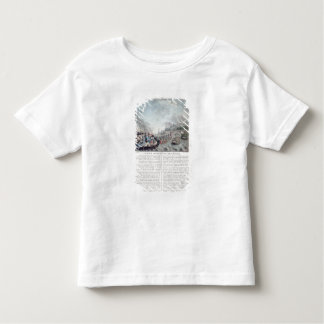 Bombardment of Genoa, 1684, engraved by Jean Bapti T-shirt