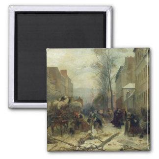 Bombardment of Paris in 1871 2 Inch Square Magnet