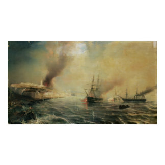 Bombardment of Sale, 26th November 1851, 1855 Poster
