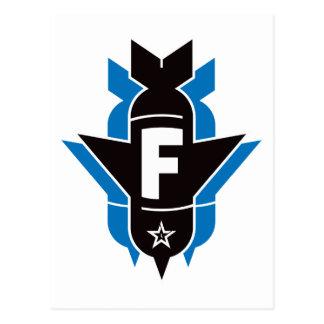 Bombas de caída de F - azul Postal