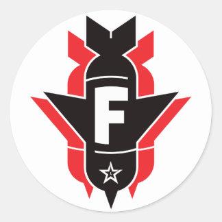 Bombas de caída de F - rojo Etiqueta