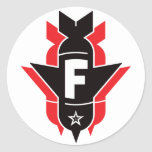 Bombas de caída de F - rojo Etiqueta Redonda