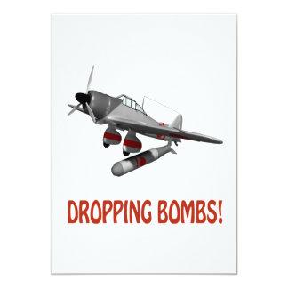 Bombas de caída invitación 12,7 x 17,8 cm