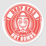 Bombas del bajo del descenso no etiqueta redonda