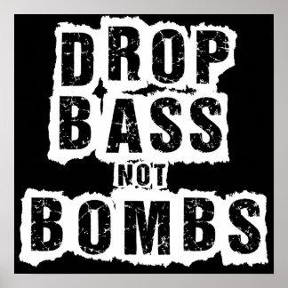Bombas del bajo del descenso no póster