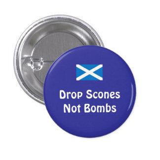 Bombas escocesas de los Scones de la independencia Pin Redondo De 1 Pulgada