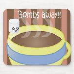 Bombas lejos - melcocha y café tapete de ratón
