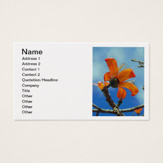 Bombax Ceiba Business Card