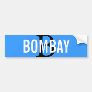 Bombay Breed Monogram Bumper Sticker
