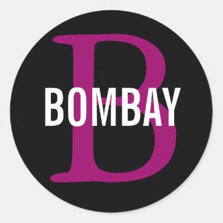 Bombay Breed Monogram Classic Round Sticker