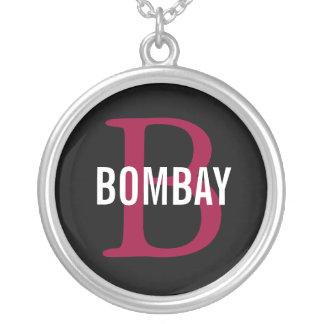 Bombay Breed Monogram Design Round Pendant Necklace