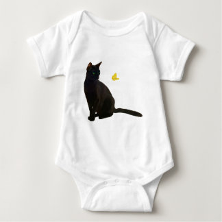 Bombay Cat & Butterfly Baby Bodysuit