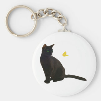 Bombay Cat & Butterfly Keychain