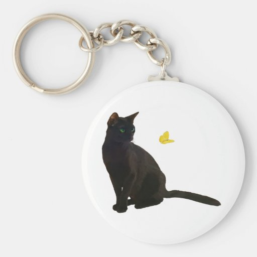 Bombay Cat & Butterfly Key Chains
