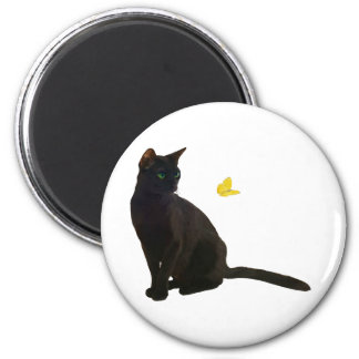 Bombay Cat Butterfly Fridge Magnet