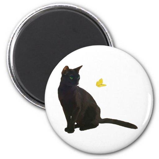 Bombay Cat & Butterfly Fridge Magnet