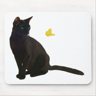 Bombay Cat & Butterfly Mouse Pad