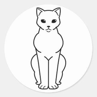Bombay Cat Cartoon Classic Round Sticker