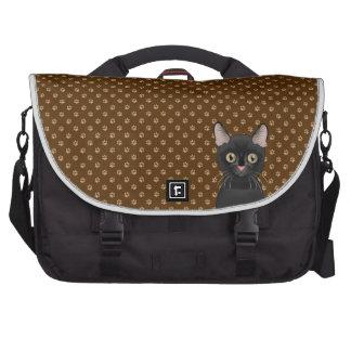 Bombay Cat Cartoon Paws Laptop Messenger Bag