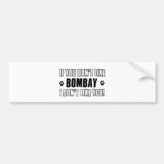 bombay  cat design bumper sticker