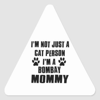 Bombay Cat Design Triangle Sticker