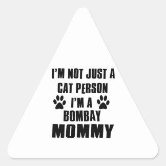 Bombay Cat Design Triangle Sticker