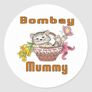 Bombay Cat Mom Classic Round Sticker