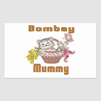 Bombay Cat Mom Rectangular Sticker