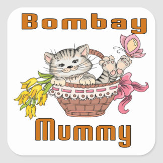 Bombay Cat Mom Square Sticker