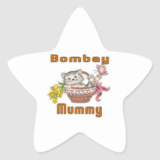 Bombay Cat Mom Star Sticker