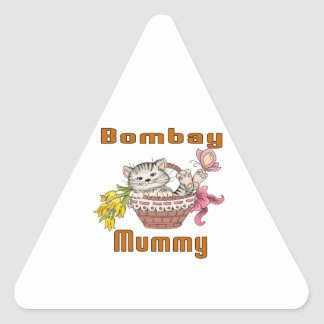 Bombay Cat Mom Triangle Sticker