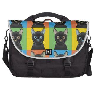 Bombay Cat Pop-Art Laptop Messenger Bag