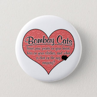 Bombay Paw Prints Cat Humor Pinback Button
