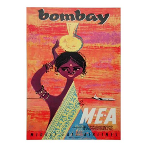 Bombay Vintage Travel Poster Print