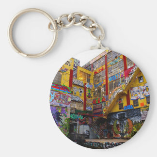 Bombed building key chain